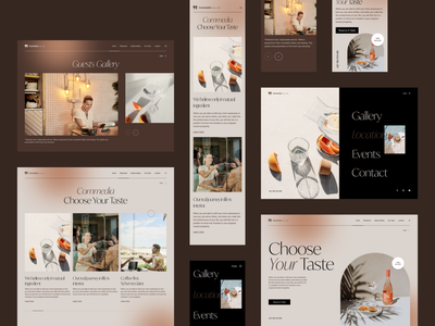 Comedia Web UI clean interaction web details food and drink restaurant website design layout ux ui