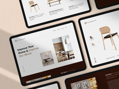 Furniture Studio Concept Store chair products interfacedesign interface artdirection websitedesign webdesign iosapp ios store studio furniture brandidentity branding minimal clean web layout ux ui