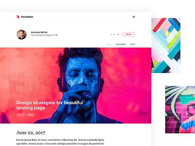 TB Blog Concept layout publications details blog colors design web ux ui