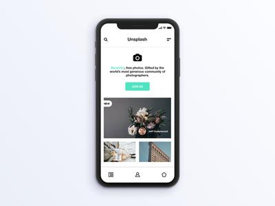 Unsplash UI Concept