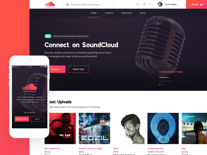 SoundCloud Redesign