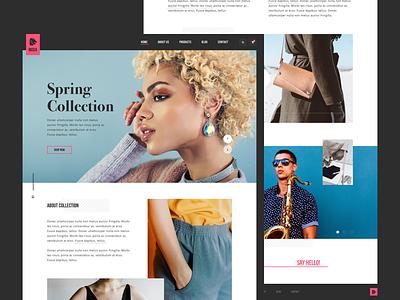 MODA shop online store bold modern clean layout fashion design web ux ui