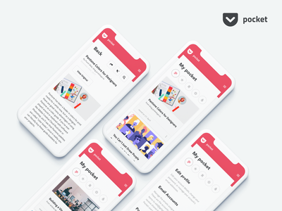 Pocket App redesign pocket aplication ios iphone app mobile ux ui