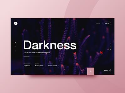 Dark Helvetica font helvetica details interface clean layout dark design website ux ui