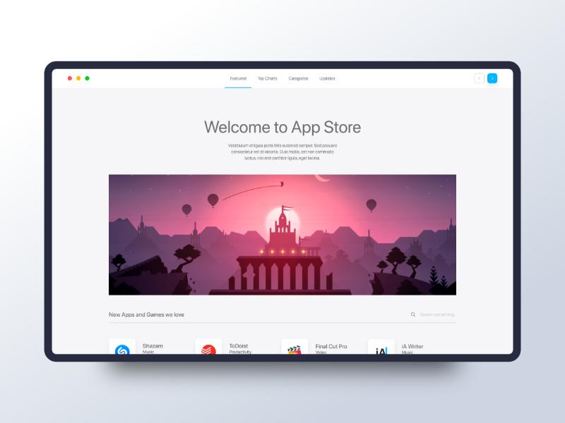 App Store UI Concept by Ervin Halebic on Dribbble