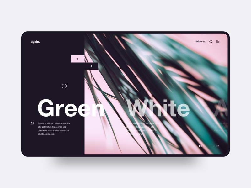 Slider UI interface interaction minimal modern clean layout dark web gallery exploration visual brand exploration ui  ux ui slider