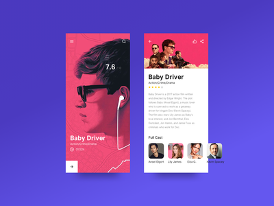 Movie App UI Exploration interaction color layout concept movie ios movie app mobile ux ui