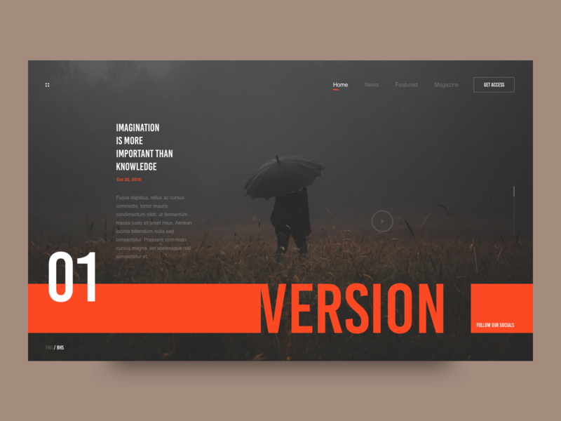 Version webdesign photography red web layout clean minimal interface ux ui version