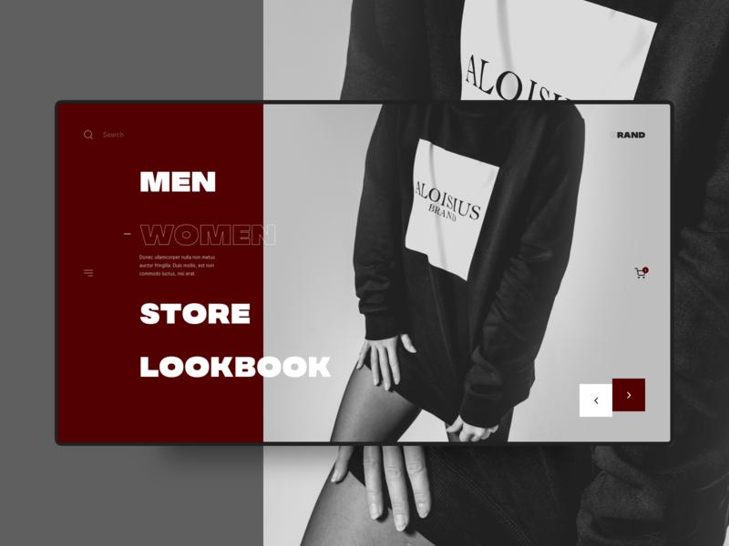 ABrand photograhy interface interaction modern dark concept details website minimal brand landing fashion typogaphy clean layout lookbook shop ux ui