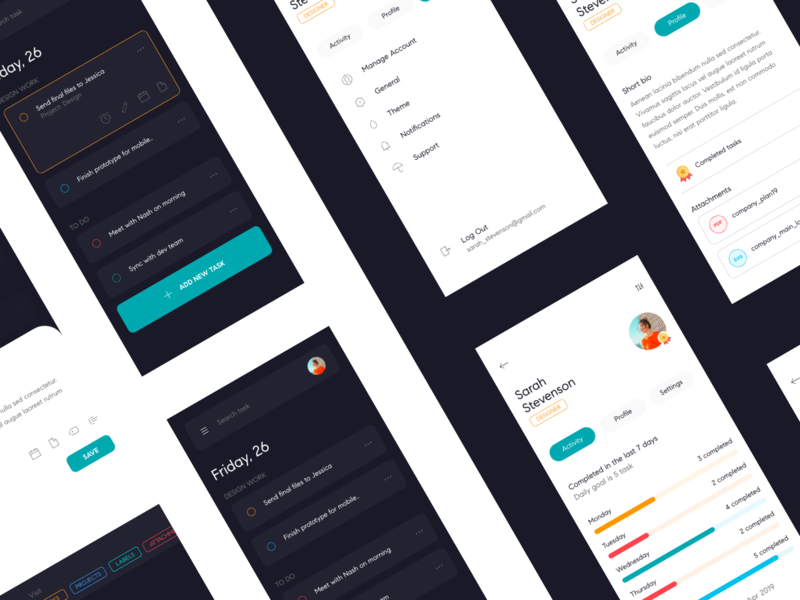 To-Do UI to-do list to-do productivity management task app interaction ios modern app details concept minimal design layout ux ui