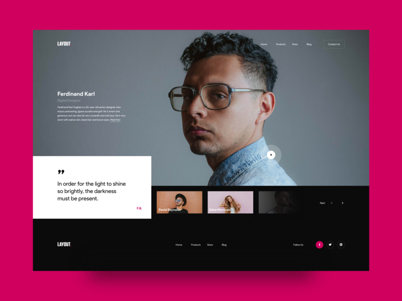About UI Exploration typography interface about landing interaction modern website details concept colors clean web design layout ux ui
