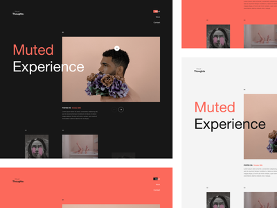 Muted. Gallery Exploration slider photos dark ui website exploration portfolio gallery details concept colors minimal clean web design layout ux ui