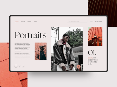 01. typography ogg photography artdirection userexperience interaction portrait portfolio website concept minimal colors clean web design layout ux ui