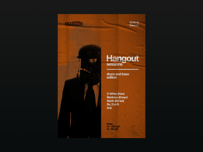 Hangout Sessions poster color type poster flyer music graphic vector logo branding typography design