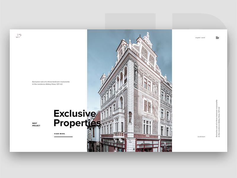 Exclusive Properties Web Visual Ux Ui Website Mobile Architecture Design  Bag Animation