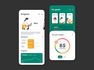 Healthy App dark mode dark ui healthy ios product design uxdesign ui design ux ui app design excercise health