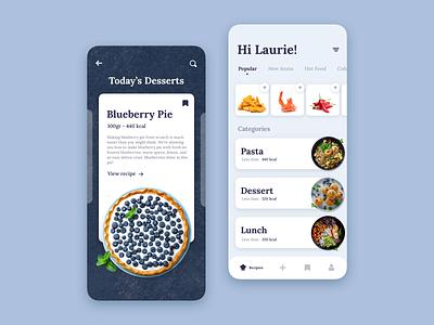 Recipe App ios app ux design ui design product design design app design app concept ui ux ux ui cooking recipe app recipe