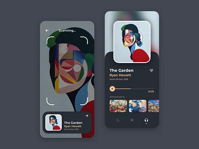 Gallery App ux design ui design scanning camera app ios product design app design app concept ui ux ux ui app paint gallery