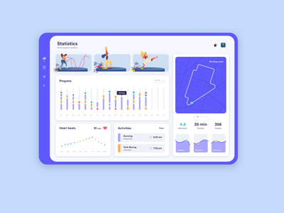 Healthy Dashboard excercise healthy health ux design ui design responsive interaction dashboard ui dashboard product design ux app concept ui ux ui