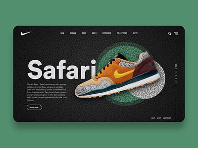 Nike Website ui ux ui design web design nike air max nike air nike design landing page ecommerce website ux ui product design app concept