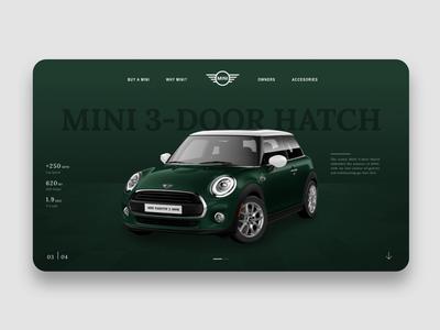 Mini Website landing mini cooper website design ui design ux app design web design product design app concept ui ux ui