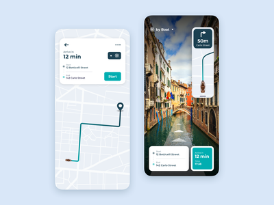 AR Map maps ui design navigation map artificial intelligence product design design app design app concept ux ui ux ui