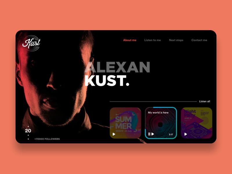 DJ Website websites landing page djs dj website web design ui design product design design app design app concept ui ux ux ui