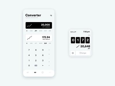 Converter App ux design minimalist money app conversion converter ui design product design design app design app concept ui ux ux ui