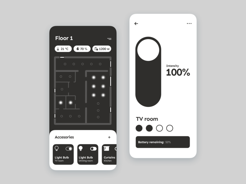 Smart Home App black and white smarthouse smart smarthome ux design ui design product design design app design app concept ui ux ux ui