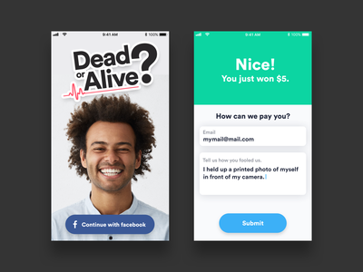 Dead or alive app ios photo form form field design app design app concept ui ux ux ui