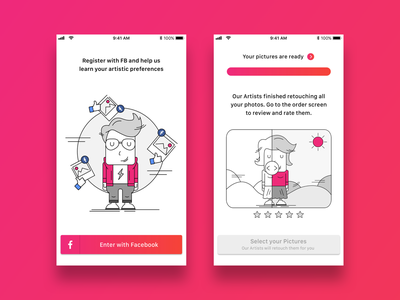 Editor app onboarding ui onboarding log in photo app illustration vector app design app concept ui ux ux ui