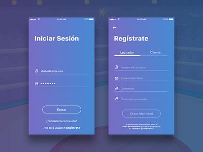 Huixache App Log in sign in form sign up log in app design app concept ui ux ux ui