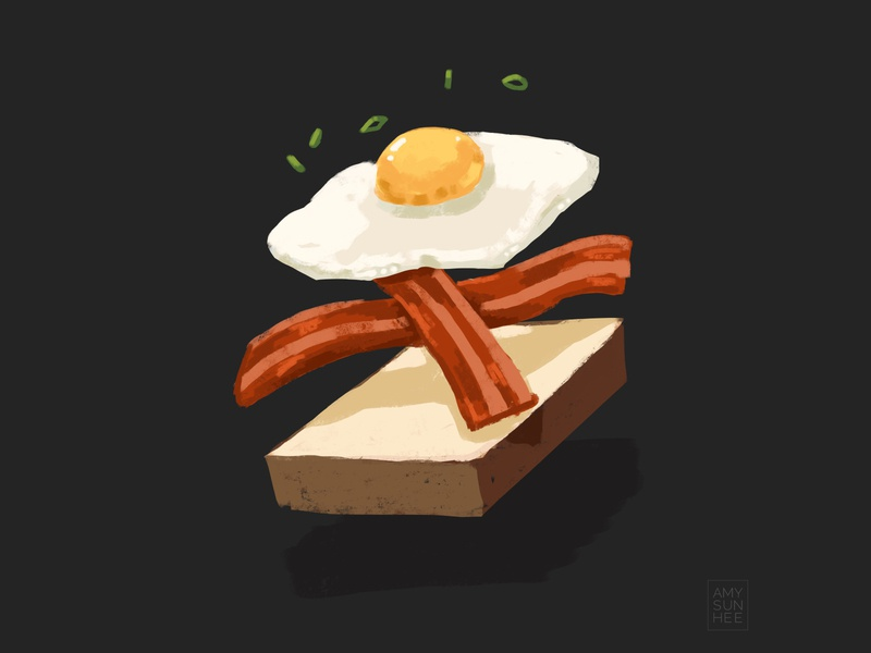 Breakfast procreate drawing food and drink breakfast egg food illustration