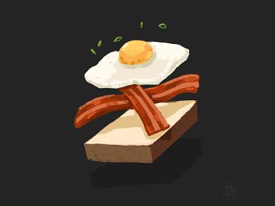 Breakfast procreate drawing food and drink breakfast egg food illustration