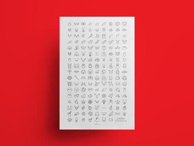 Pokémon: Kanto icon poster icon set icons pokemon nintendo graphic design video games vector illustration design