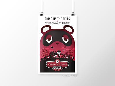 Bring the Bells - 2018 digital print vector online shop digital print tom nook nintendo video games infinite bioshock animal crossing amysunhee