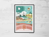 Paper Mario: TTYD Map | digital print