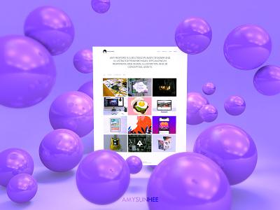 Portfolio Website website portfolio web  design c4d cinema 4d 3d graphic design
