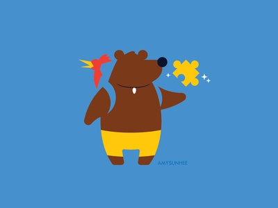 Bear and Bird nintendo smash bros video games kazooie banjo illustration vector