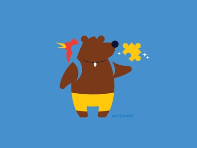 Bear and Bird nintendo smash bros video games kazooie banjo illustration vector
