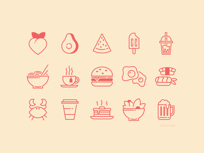 Food Icons iconography food icon set icons design vector