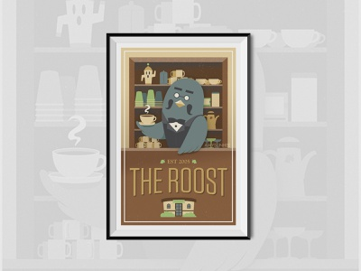 The Roost Poster poster art brewster animal crossing design poster nintendo video games vector