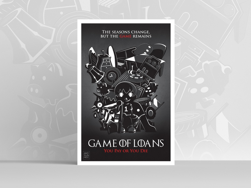 Game of Loans poster poster design poster game of thrones animal crossing nintendo video games graphic design vector illustration design