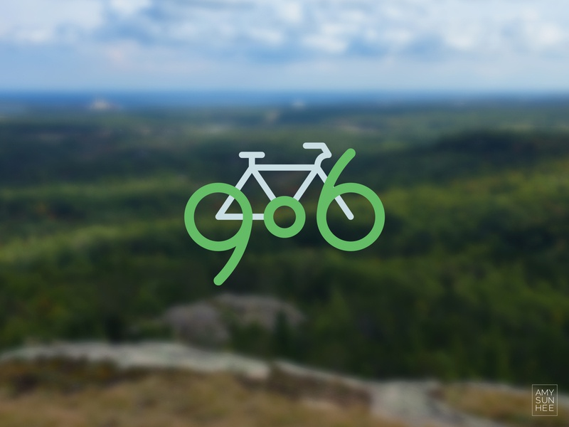 906 Biking iconography biking upper peninsula michigan bike branding logo vector design