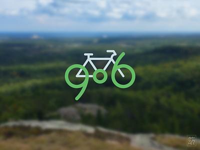 906 Biking iconography biking upper peninsula michigan bike branding logo vector design
