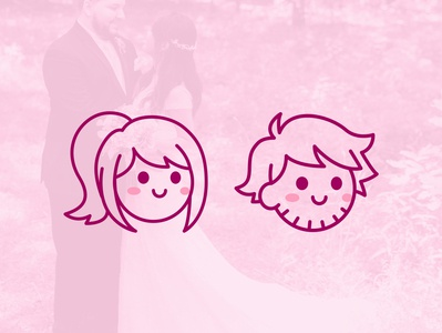 Rexford icons illustration couple wedding icons design vector