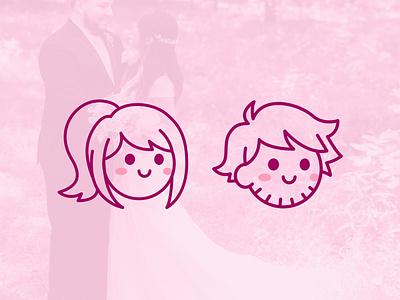 Rexford icons illustration couple wedding icons design vector