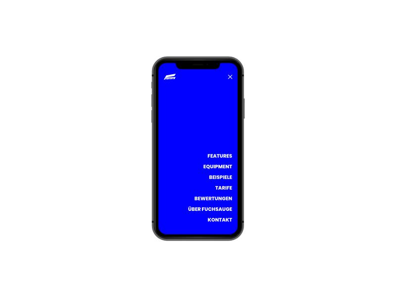 Fuchsauge mobile menu mobile menu landingpage minimal adobe xd web ux ui