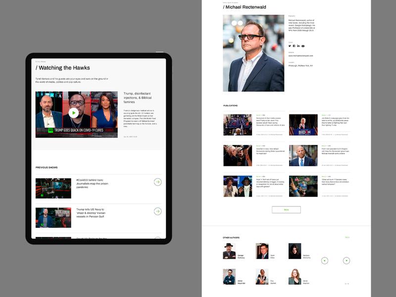 Russia Today website desktop tablet news minimalism webdesign ux ui