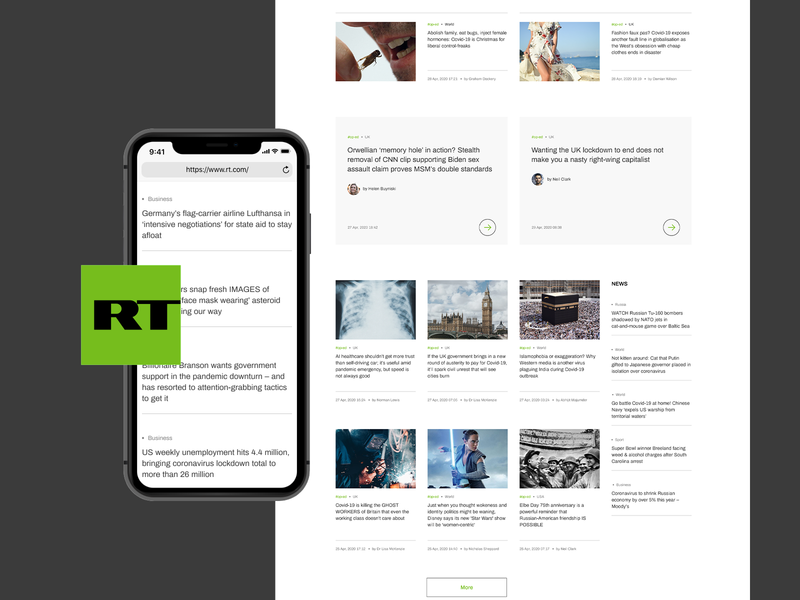 Russia Today redesign concept articles uidesign uxdesign news site russia today tv channel blog news minimalism webdesign
